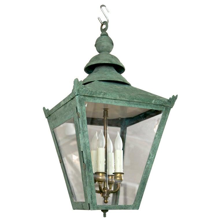 English Copper Hanging Lantern At 1stdibs