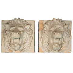 19th C Lion Fountain Masks