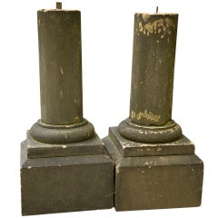 Classic Pair of Carved Yorkstone Table Bases