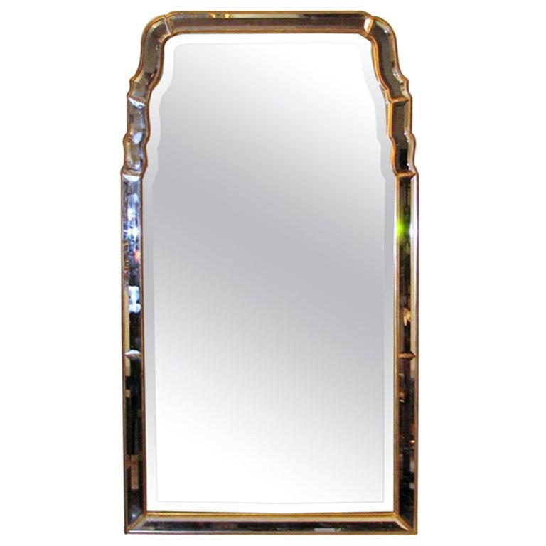 Mid-century Venetian Queen Anne Style Mirror at 1stdibs