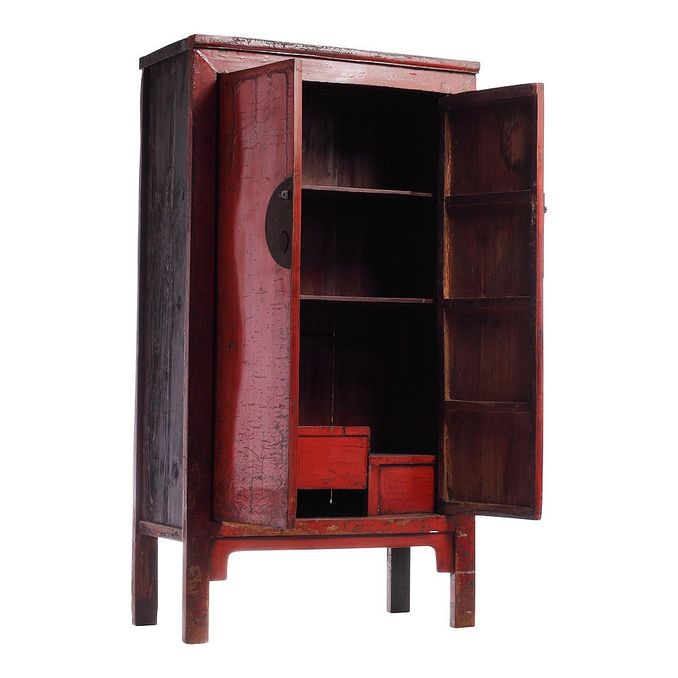 Large Red Armoire For Sale at 1stdibs