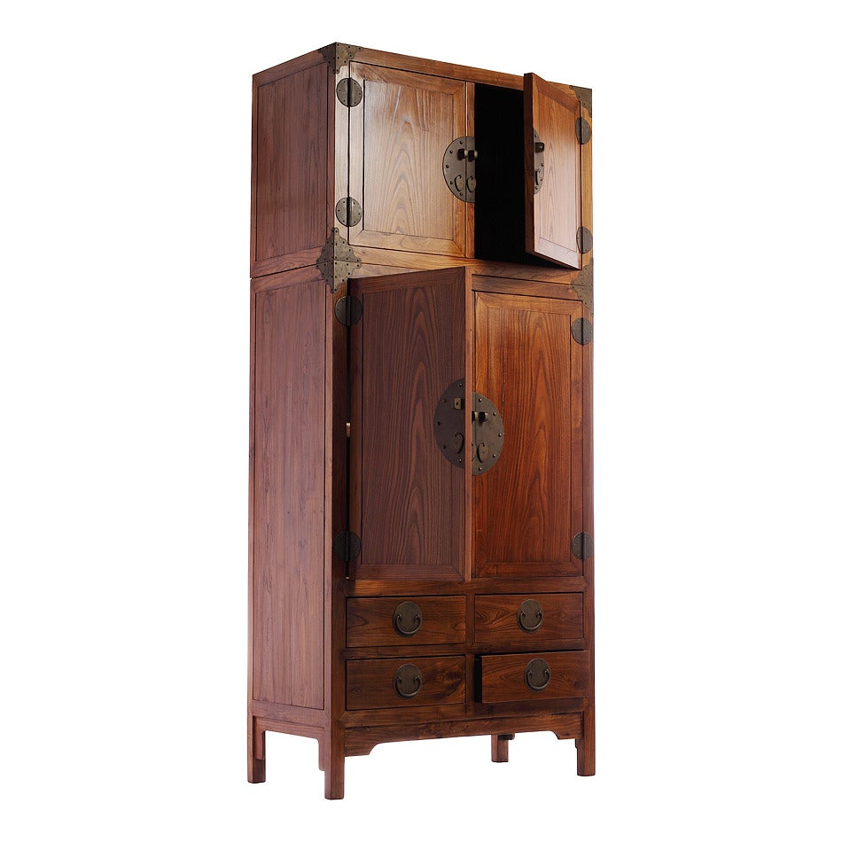 large two section compound cabinet at 1stdibs