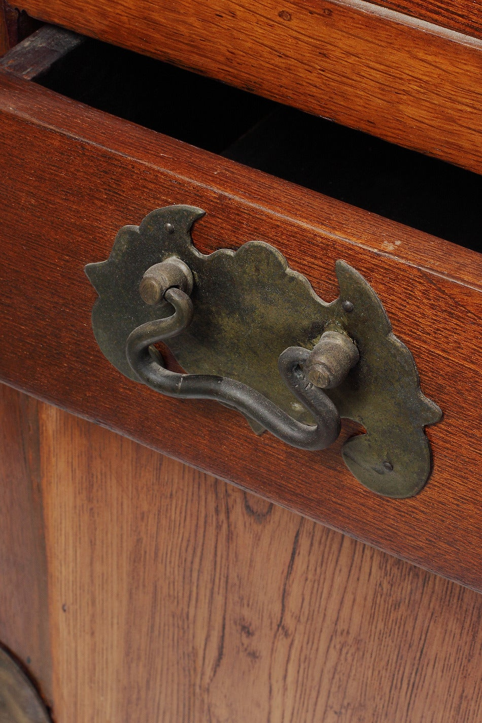 Wood 19th Century Chinese Buffet with Drawers, Doors and Traditional Iron Hardware For Sale