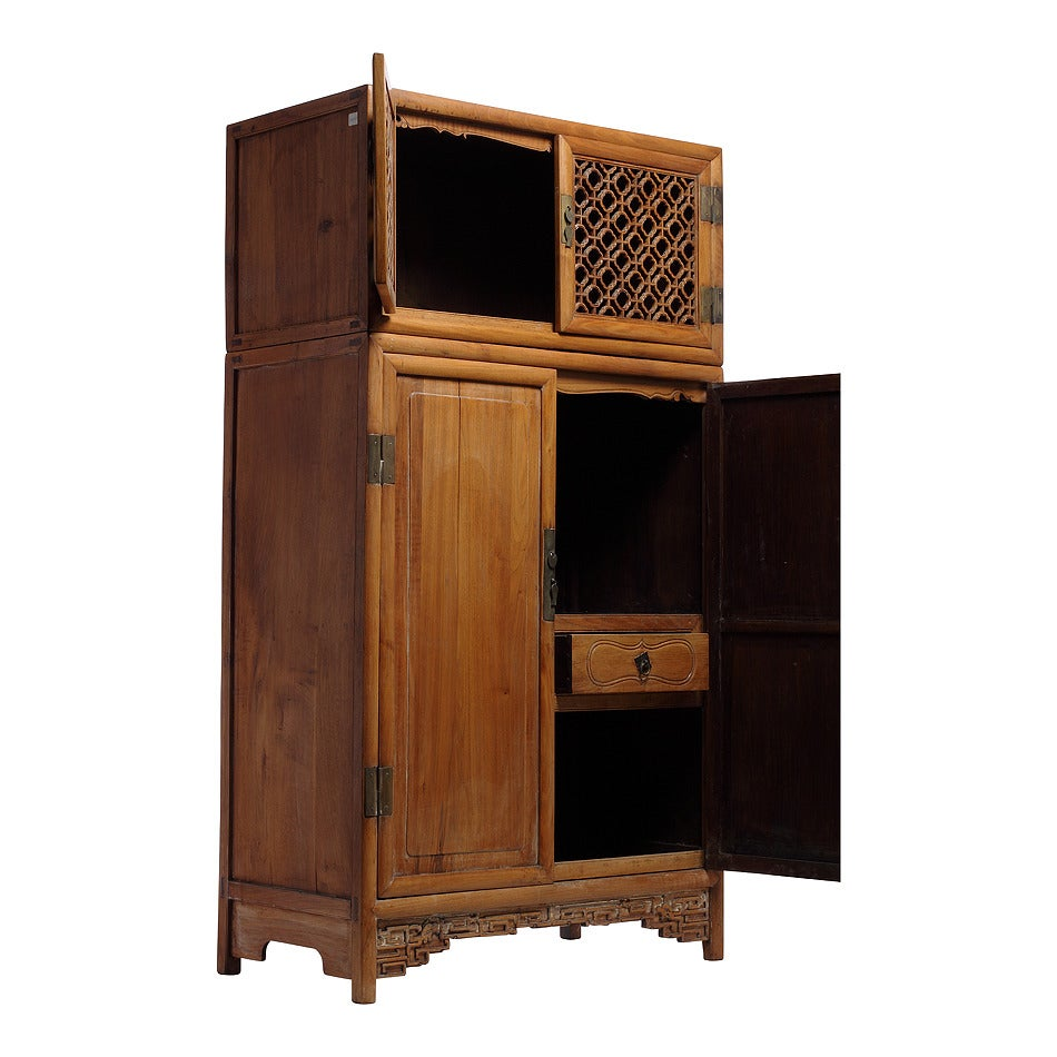 Antique Chinese Kitchen Cabinet / Armoire For Sale At 1stdibs