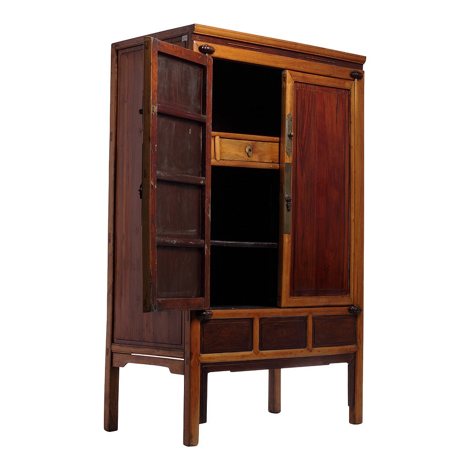 Antique Ningbo Elm And Cypress Wood Cabinet From China, 19th Century 2