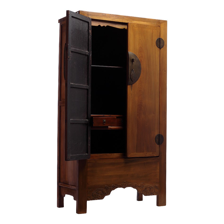 large antique chinese armoire for sale at 1stdibs. Black Bedroom Furniture Sets. Home Design Ideas