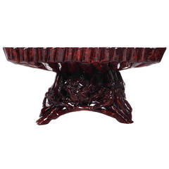 Hand-Carved Lacquered Azalea Wood Root Coffee Table from China, 1990s