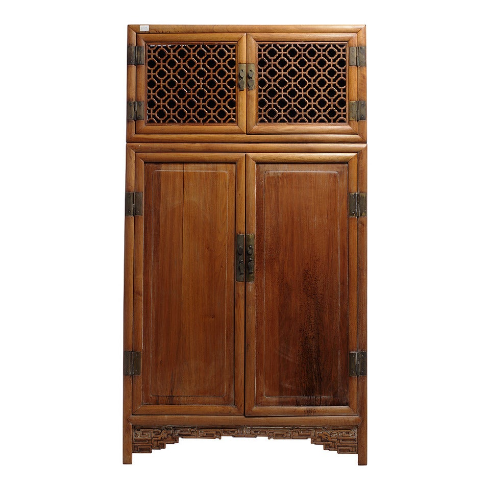 Antique chinese kitchen cabinet armoire for sale at 1stdibs for Kitchen wardrobe cabinet