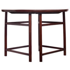 Pair of Antique Qing Dynasty Elmwood Demilune Tables from China, 19th Century