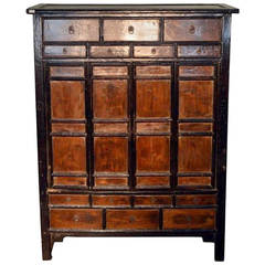 Antique Chinese Large Armoire with 14 Drawers and Storage from the 19th Century