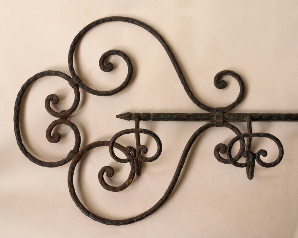 Wrought Iron Coat Rack In The Shape Of A Large Key At 1stdibs