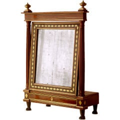 Directoire Period Mahogany Table Mirror in the Style of Molitor