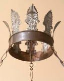 A Directoire style tole chandelier,9 lights image 3