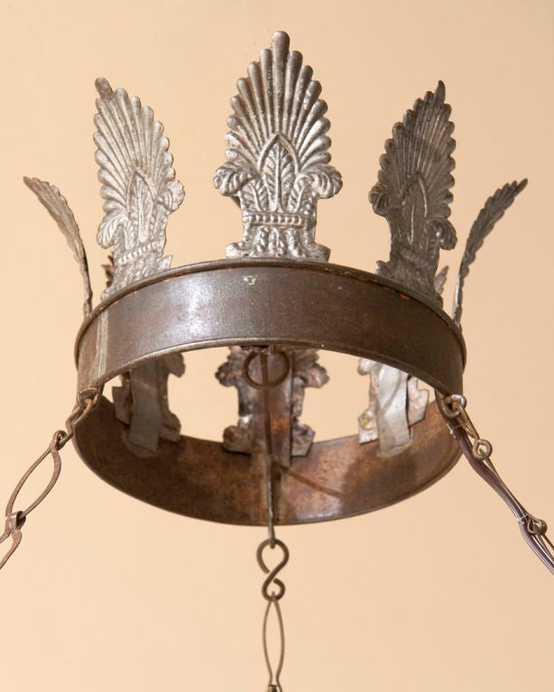 A Directoire style tole chandelier,9 lights 3