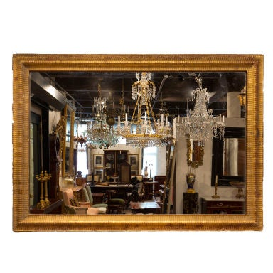 Napoleon iii period boiserie gilt frame mirror original glass at