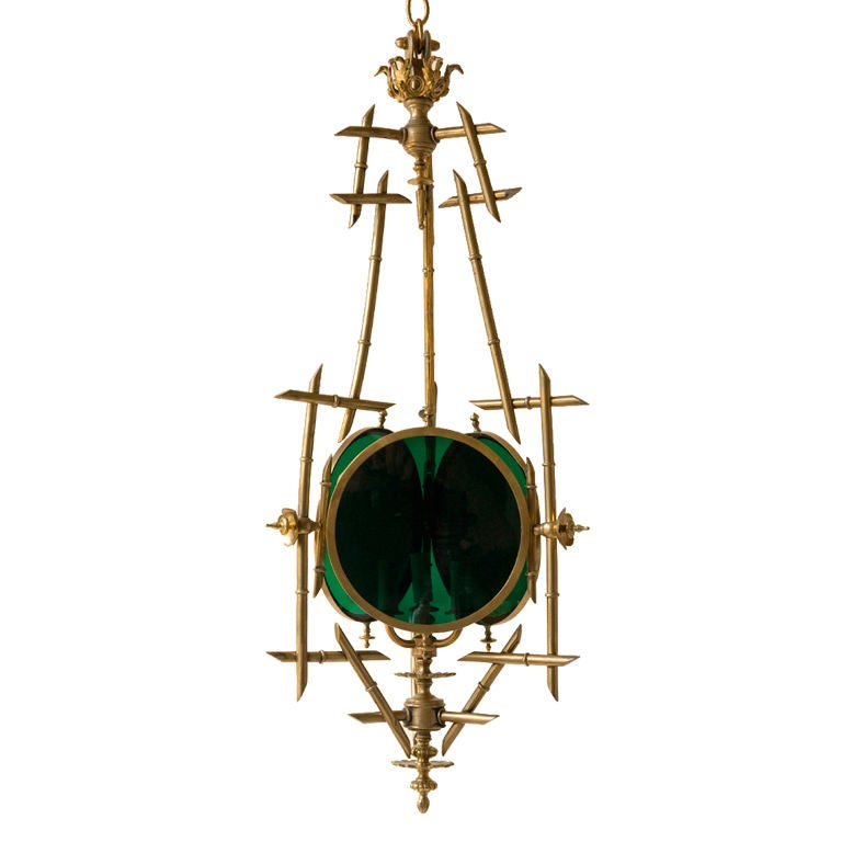 English Regency Style Faux Bamboo Light Fixture At 1stdibs