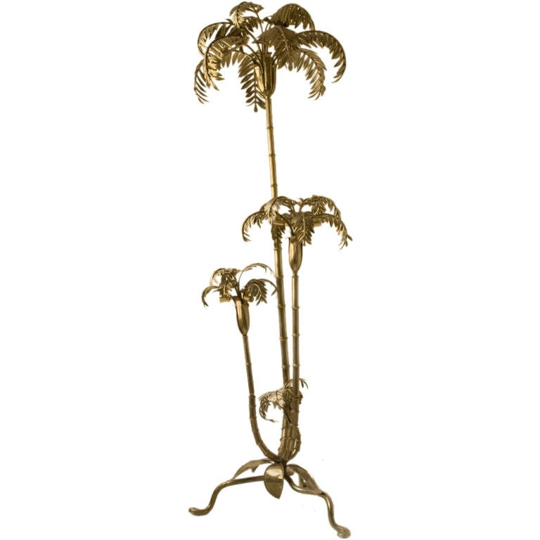 bronze and brass palm tree floor lamp at 1stdibs