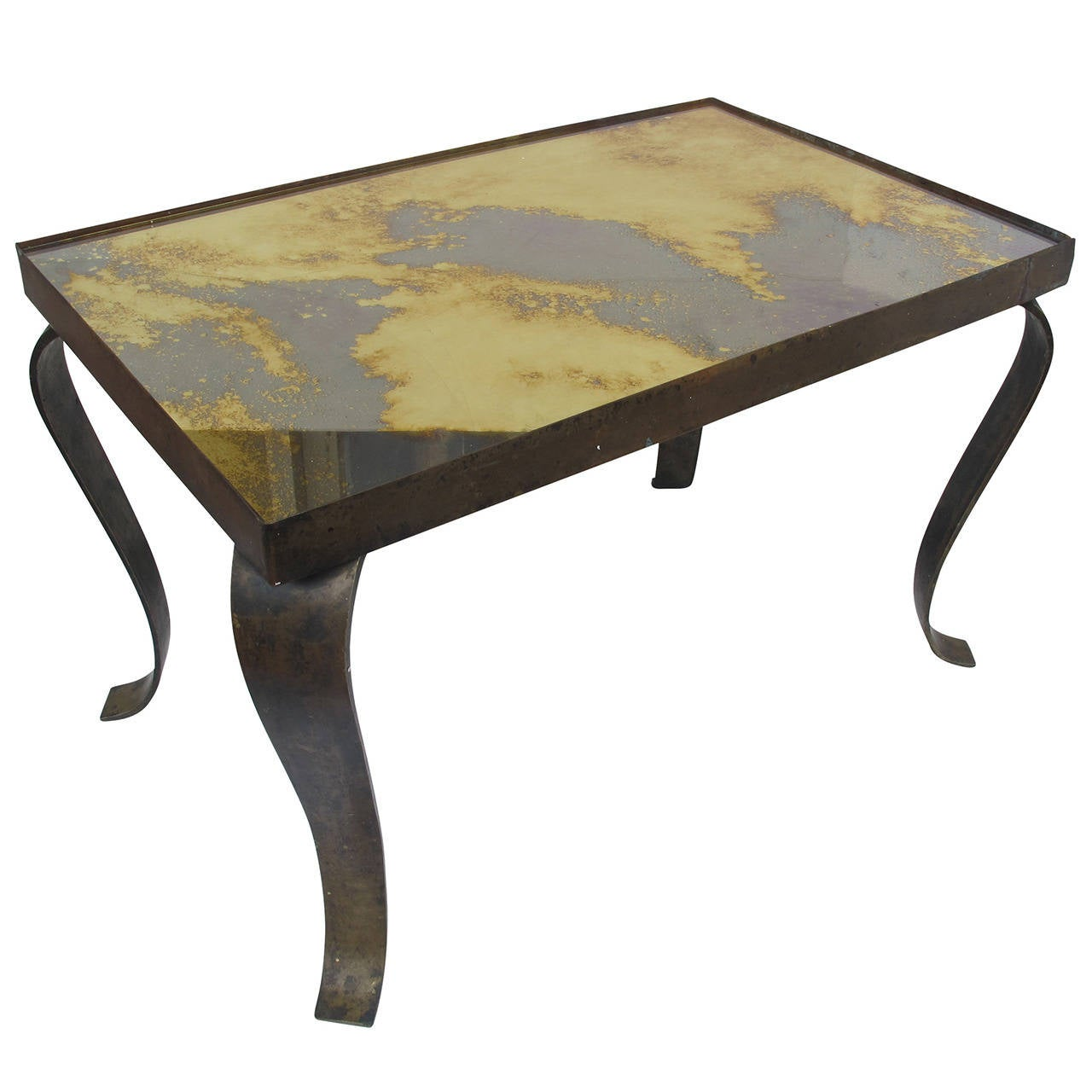 Arturo pani side or coffee table bronze base at 1stdibs for Side table base