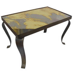 Arturo Pani Side or Coffee Table Bronze Base