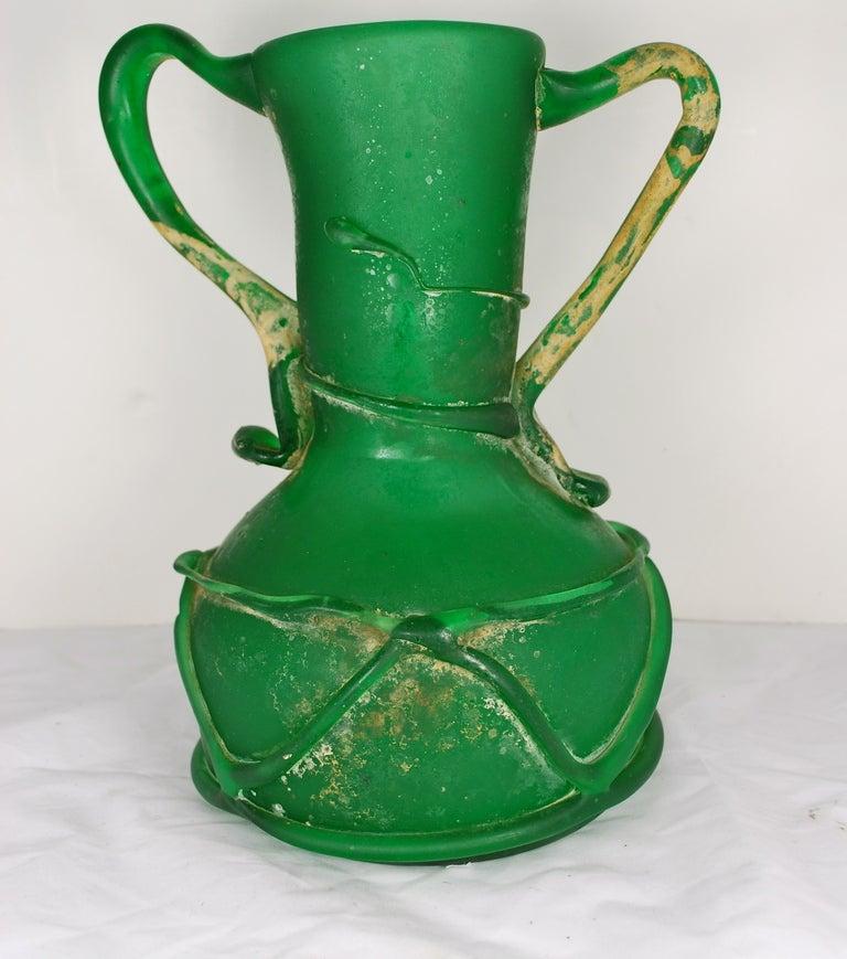 Large Glass Vessel : Large Stunning Green Glass Vessel Roman at 1stdibs