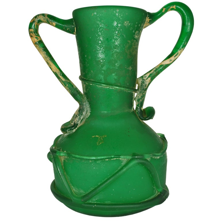 Large Glass Vessel : This Large Stunning Green Glass Vessel Roman is no longer available.