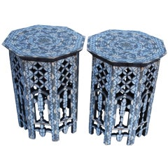 Syrian Mother of Pearl Tables, Pair