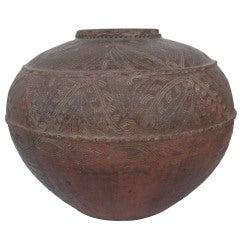 Song Dynasty Earthenware Storage Jar 12th-14th C