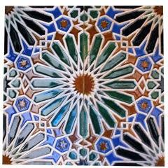 Group of 75 Spanish Tiles 1920's Sevilla