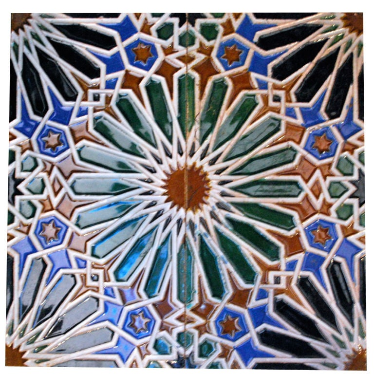 Group Of 75 Spanish Tiles 1920 S Sevilla At 1stdibs