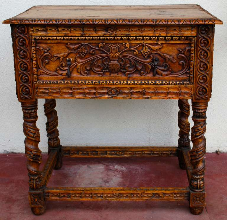 18th Century Spanish Colonial Side Table In Good Condition For Sale In  Montecito, CA - 18th Century Spanish Colonial Side Table At 1stdibs