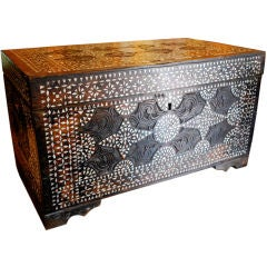 19th Century Anglo Indian Inlaid Mother of Pearl Chest