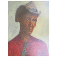 1930s Portrait of a Man in Hat