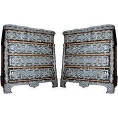 Pair of Syrian Mother of Pearl Inlay Dressers Low thumbnail 1