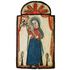 New Mexican Retablo Rafael Aragon 19th Century