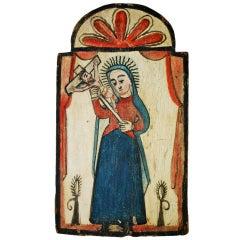 New Mexican Retablo Rafael Aragon 19th Century
