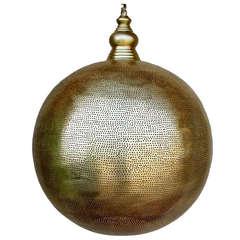 """Lobo"" Round Brass Modern Moroccan Design by Haskell Design"