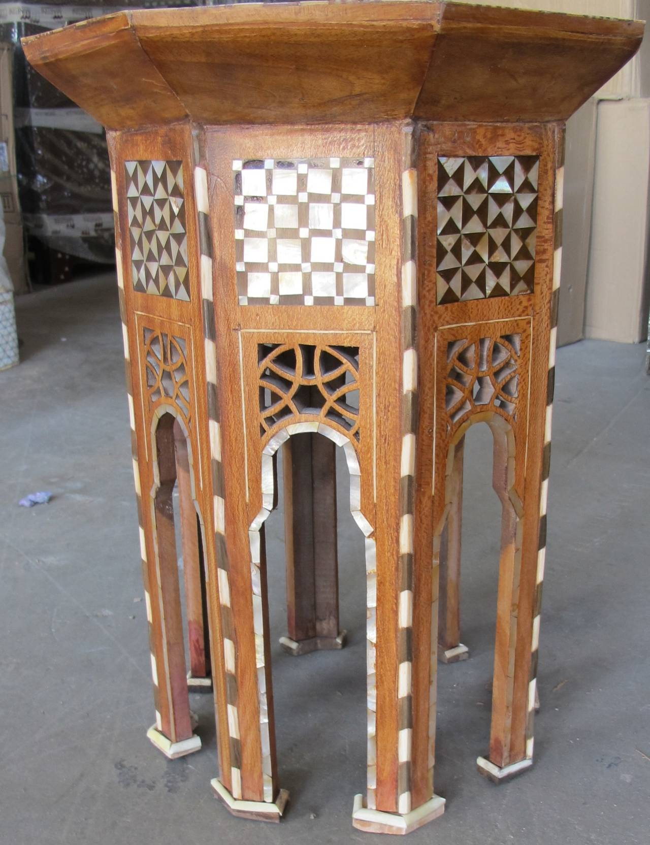 Beautiful pair of Moroccan side tables. Can be sold separately. In wonderful condition.
