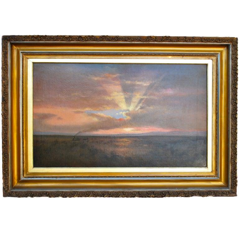 "Lockwood de Forest ""Train in the Desert"" Painting"