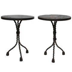 Handsome Pair of Modernist Side Tables