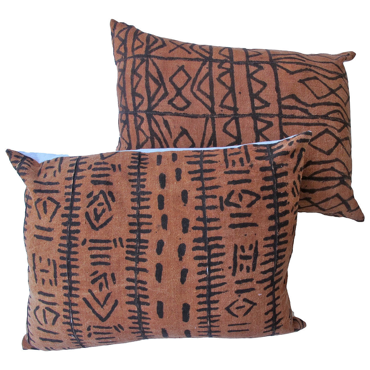 African Mud Cloth Pillows For Sale