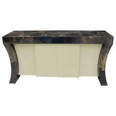 Karl Springer Lacquered Goat Hide Sideboard or Console