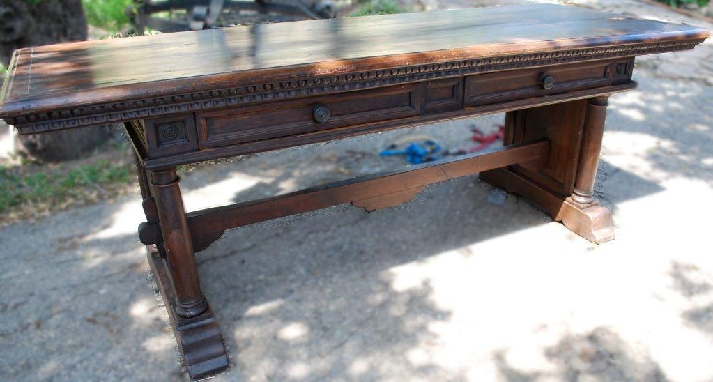Beautiful 18th Century Antique Italian Console Desk Table At 1stdibs