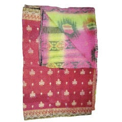 Beautiful Vintage Indian Quilt