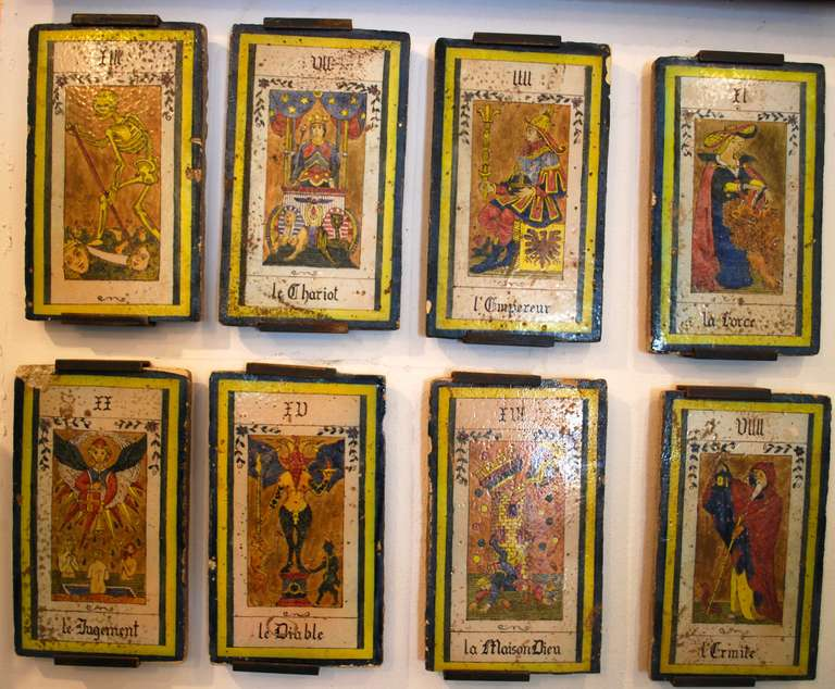 Amazing Collection Of 22 Large 19th Century French Tarot