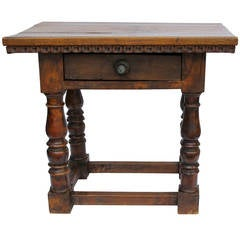 18th Century Italian Walnut Side Table
