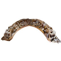 Beautiful Gilded Arch 18th Cent Spanish Colonial Architectural
