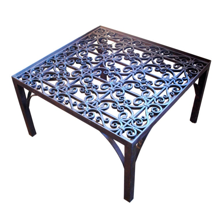 Spanish wrought iron coffee table at 1stdibs Wrought iron coffee tables
