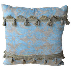 Three Light Blue Fortuny Pillows