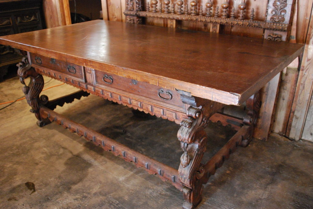 Awesome 18th Century Spanish Colonial Mexican Console Table 2