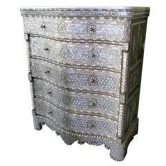 Syrian Mother of Pearl Inlay Chest of Drawers Dre Very Intricate